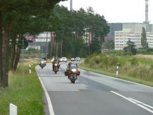 Motorradgruppe auf dem Weg zum nächsten termin