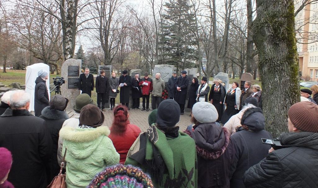 В память о депортированных и уничтоженных в Минске евреях из Брно и Терезина