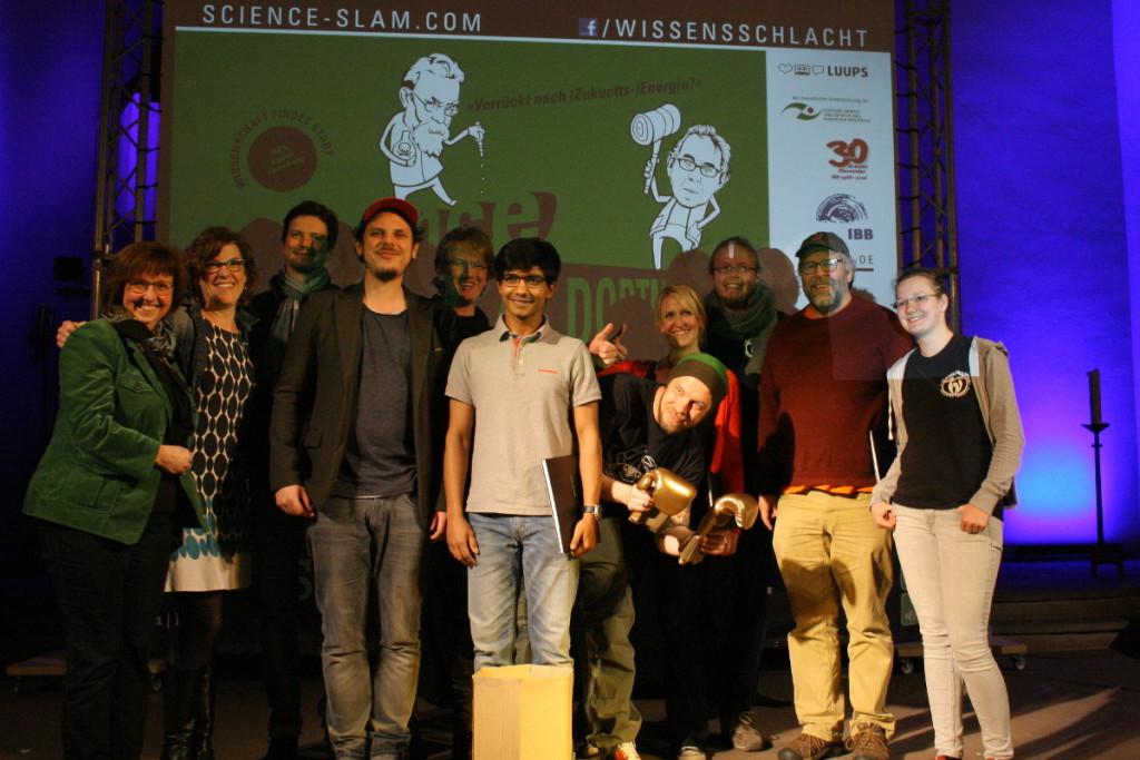 """Erfolgreiche Premiere für das IBB:  Science Slam """"Verrückt nach (Zukunfts-) Energie?"""" in der Pauluskirche"""