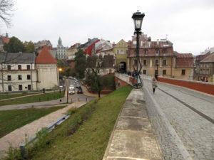 Lublin: Blick auf das Stadttor, das die Grenze zwischen christlichem und jüdischem Viertel markierte.