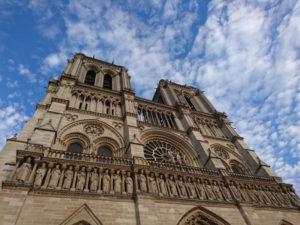 Westfassade von Notre Dame in Paris