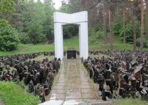 Gedenkstätte im Wald von Bikernieki