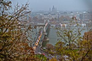 Budapest: Blick über die Donau