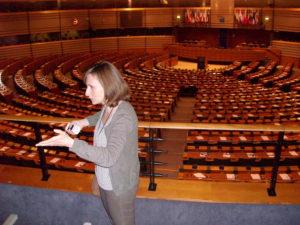 Blick in den Planrsaal des EU-Parlaments in Brüssel
