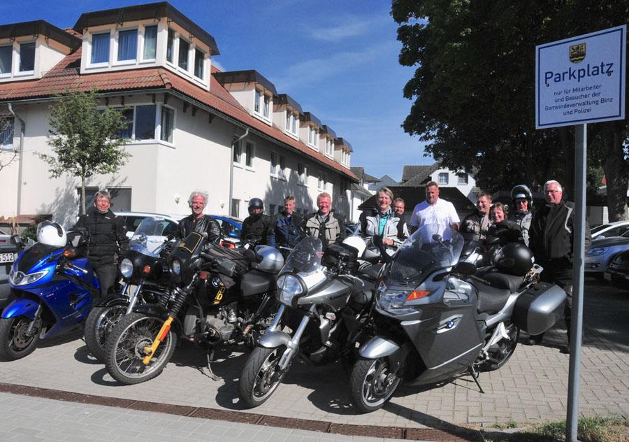 Das Ostseebad Binz freute sich über den Besuch der IBB-Motorradguppe auf Bildungsurlaub