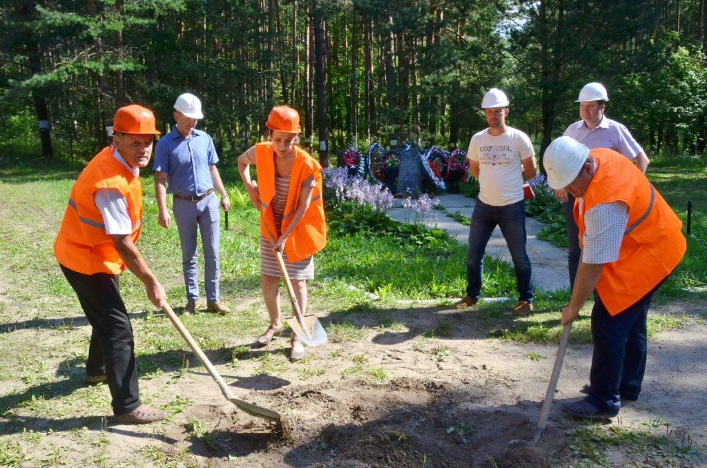 Weiterbau der Gedenkstätte Trostenez im Wald von Blagowtschtschina hat begonnen