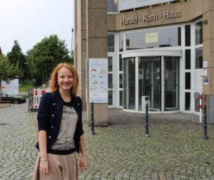 Teodora auf dem Weg zur Arbeit bei der Auslandsgesellschaft NRW e.V.: Kultureller Austausch ist mittlerweile ihr Beruf und ihre Leidenschaft.