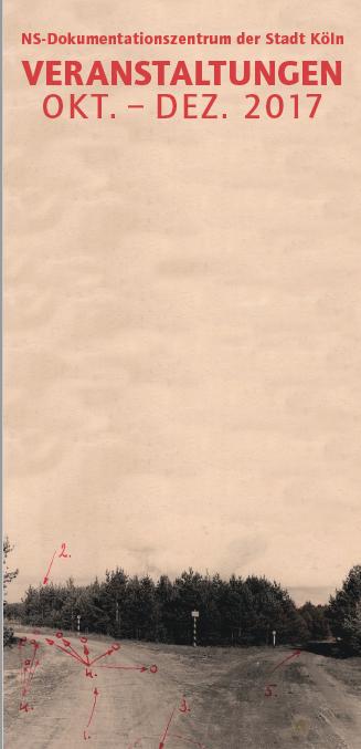 Dieses Foto zeigt das Deckblatt des Begleitprogramms zur Ausstellung.