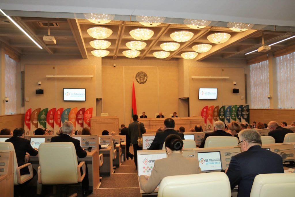 Astrid Sahm bei erster parlamentarischer Anhörung zu Nachhaltigkeit in Minsk