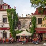 Blick auf Cafes in Kazimierz / Krakau
