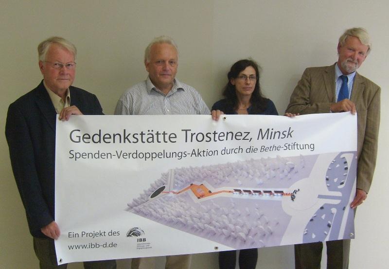 Ziel erreicht: IBB erhält 300.000 Euro Spenden für neues Mahnmal Trostenez