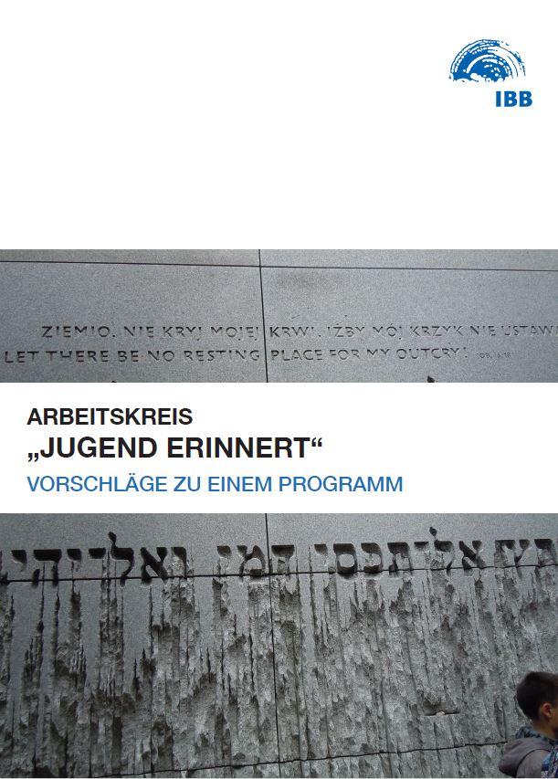 """Das Foto zeigt das Deckblatt der Vorschläge zu einem Programm vom Arbeitskreis """"Jugend erinnert""""."""