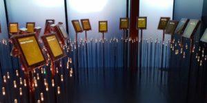 Eine interaktive Installation erinnert im Nobel-Peace Center an Leben und Schaffen von Alfred Nobel und die bisher nominierten Friedensnobelpreisträger.