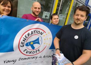 Generation Europe-Team vor dem Aufbruch nach marseille