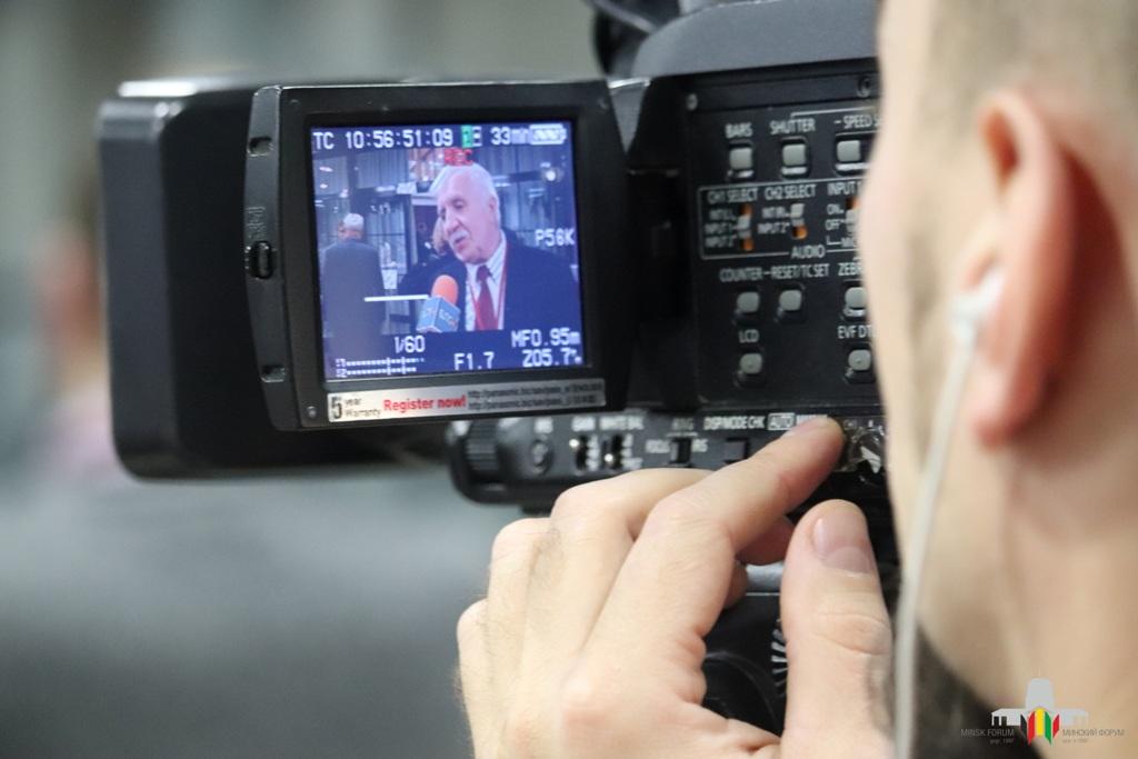 Belarussische Medien besuchten das Minsk-Forum und berichteten.