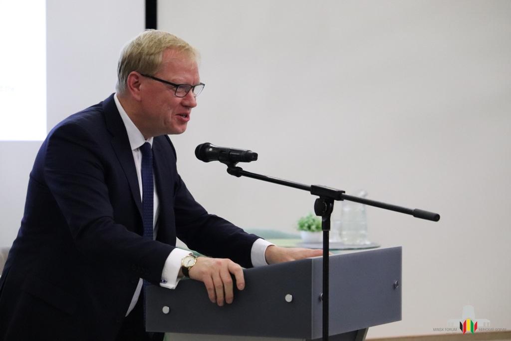 "Prof. Dr. Rainer Lindner eröffnete das 16. Minsk- Forum in der IBB ""Johannes Rau"" Minsk."