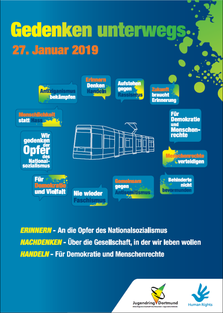 Gedenken Unterwegs - Flyer