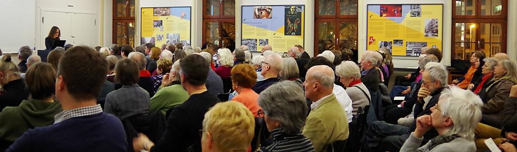 Die Historikerin Petra Rentrop-Koch berichtete vor mehr als 100 Zuhörerinnen und Zuhörern detailreich über die Ereignisse in den Jahren 1942 bis 1944 am Vernichtungsort Malyj Trostenez.