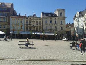 Der Marktplatz in Teschen