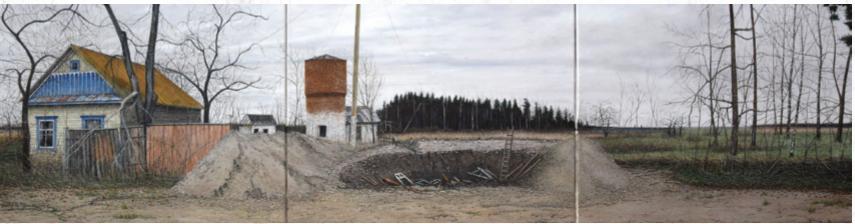 """Vernissage zur Ausstellung """"Polessje-Elegie – Bilder aus der Tschernobyl-Zone"""" von Hermann Buß"""