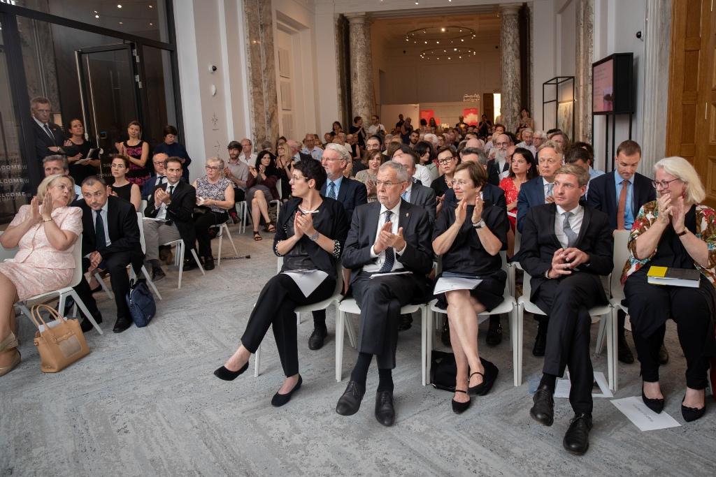 Etwa 100 geladene Gäste nahmen im Haus der Geschichte Österreich an der Ausstellungseröffnung teil. Foto: eSeL