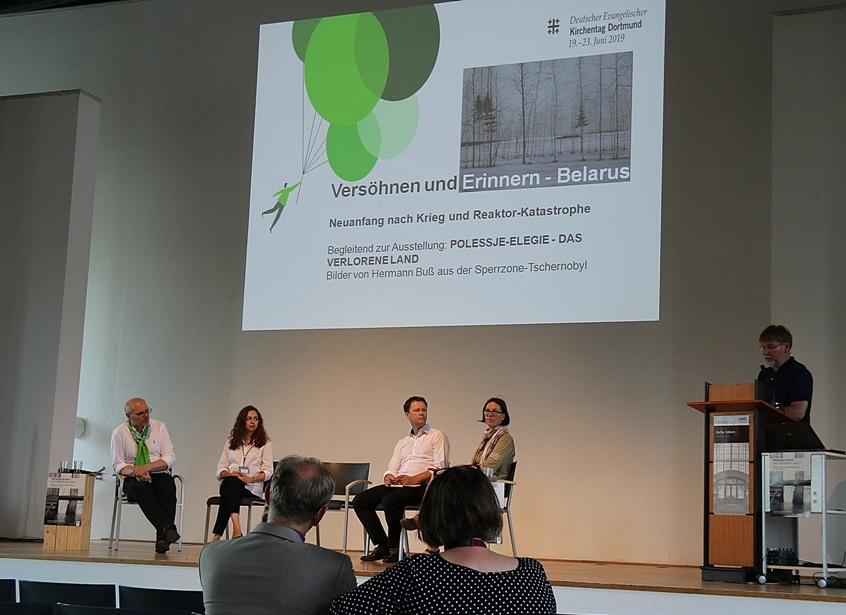 IBB gGmbH Dortmund berichtet bei zwei Veranstaltungen auf dem 37. Evangelischen Kirchentag über Tschernobyl und die Versöhnung mit Belarus