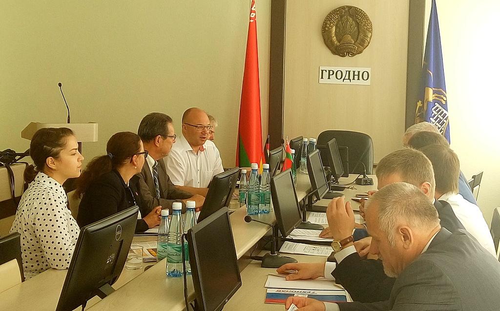 Offizieller Empfang in Grodno in Belarus.