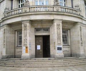 Eingang der Gedenkstätte Runde Ecke