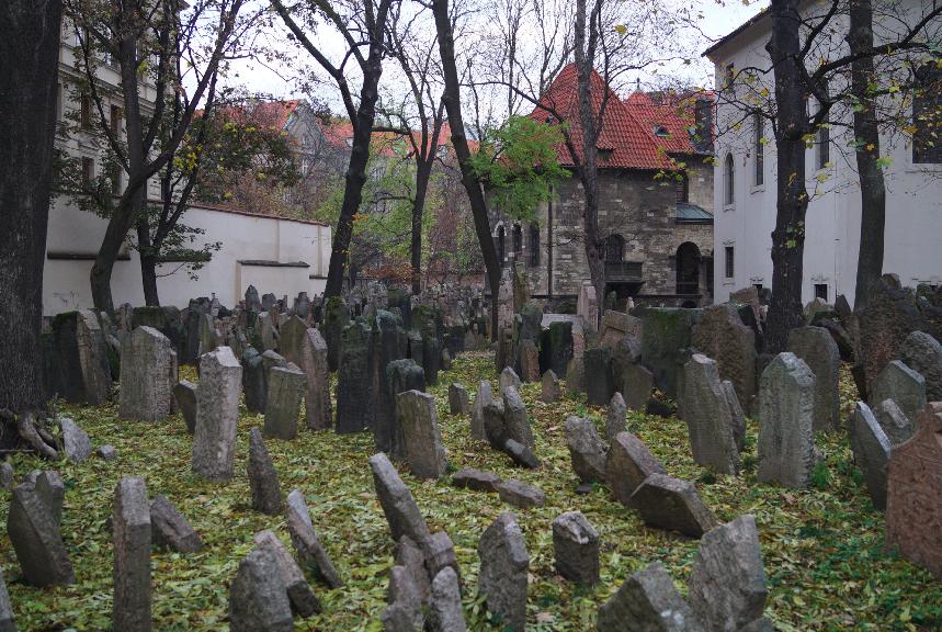 Ein Blick auf den jüdischen Friedhof von Prag.