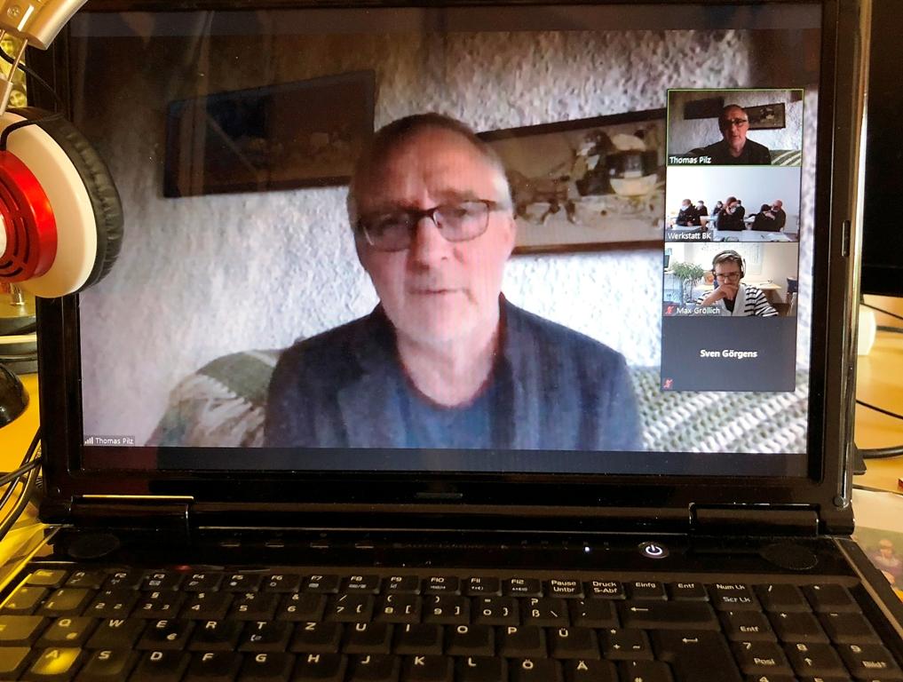 """Zeitzeugengespräch """"Wandel.Wechsel.Wende"""" als Video-Konferenz: Thomas Pilz berichtete über die friedliche Revolution 1989"""