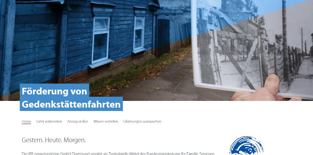 Zentralstelle zur Förderung von Gedenkstättenfahrten geht mit neuer Website ins Netz